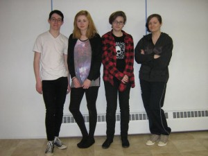 """Jessie's Song"" features (L to R): Garrett Pipher, Ruby Davidson, Kaija Evangelho and Tara Kreissler"
